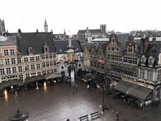 Vistas del centro histórico de Gante