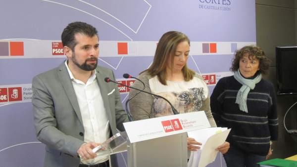 Tudanca (i), Gago (c) y Martín (d)