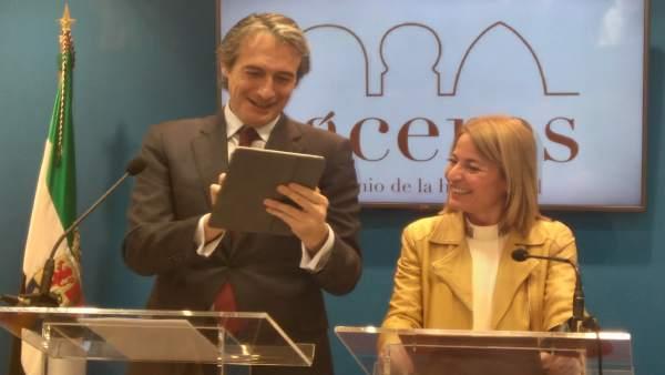El ministro de Fomento visita Cáceres