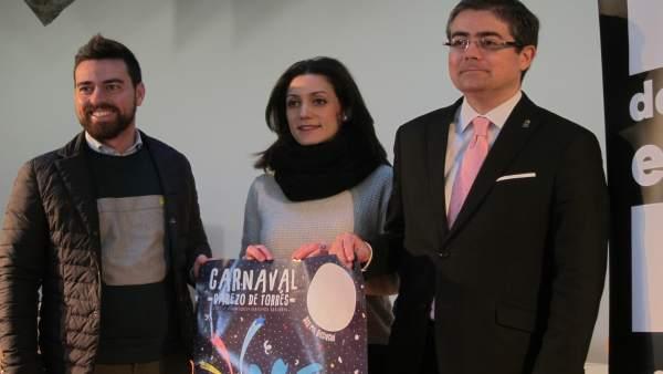 Sánchez, BArquero y Pacheco presentan el carnaval de Cabezo de Torres