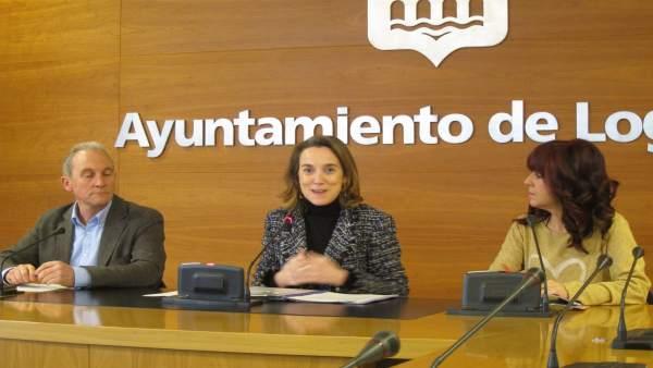 Gamarra, hoy con los alcaldes de Lardero y Villamediana