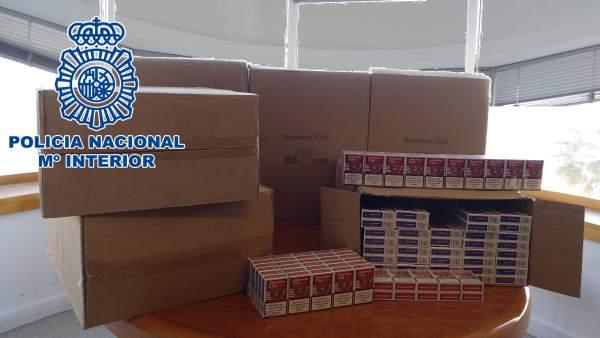 Cajetillas de tabaco de contrabando aprehendidas