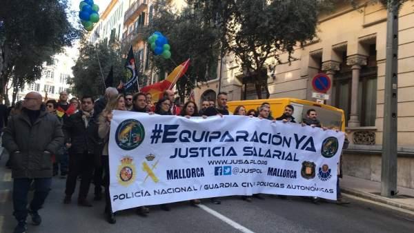Manifestación de Jusapol en Palma