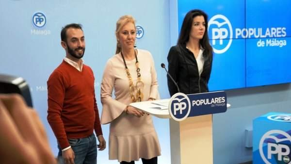 Enrique kike rodríguez Carolina España y Loli caetano NNGG PP Málaga