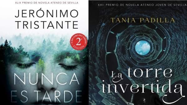Portadas de las novelas ganadoras de los Premios Ateneo de Sevilla