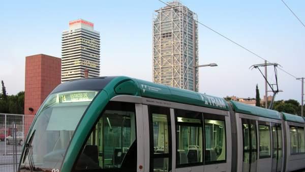 Tranvía de Barcelona.