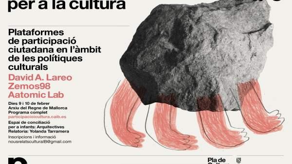 Cartel de las jornadas de participación del Plan de Cultura