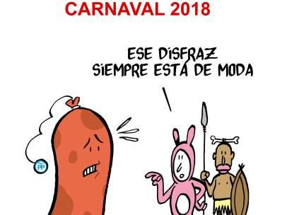 Carnaval 2018. Viñeta de Malagón