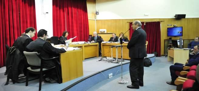 Francis Franco en el juzgado de Teruel.