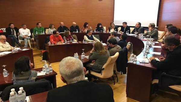 Susana Díaz asiste a la Ejecutiva Provincial del PSOE de Jaén