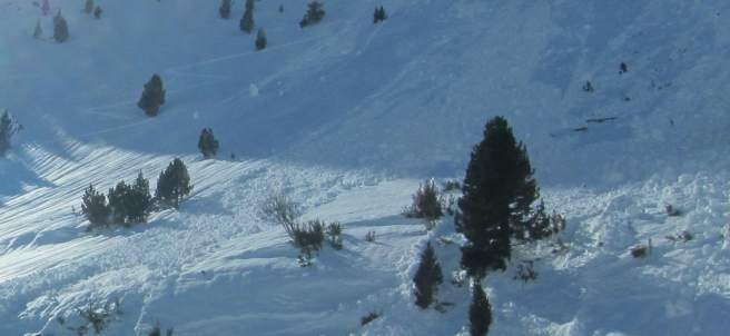 Alud en el Pirineo.
