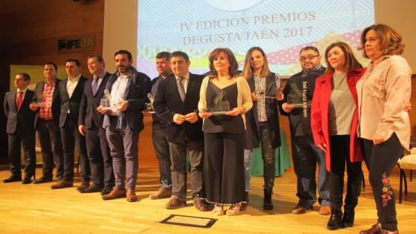 Francisco Reyes entrega los IV Premios Degusta Jaén