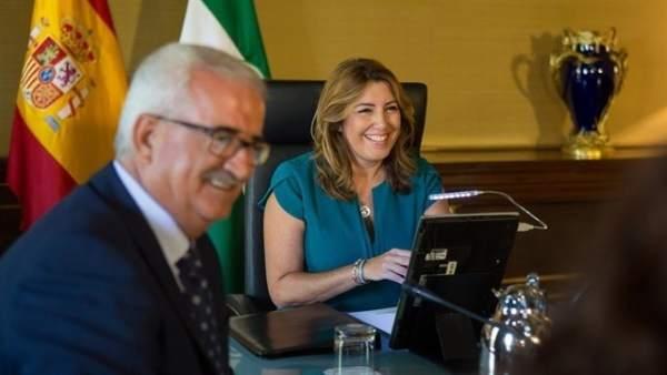 Susana Díaz y Manuel Jiménez Barrios