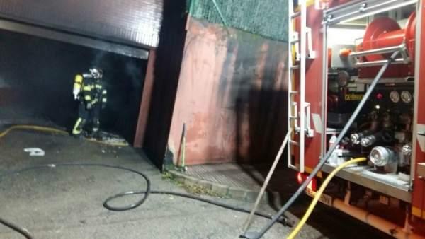 Incendio en el garaje