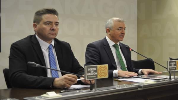 Miguel Ángel Lafuente y Javier Campoy.