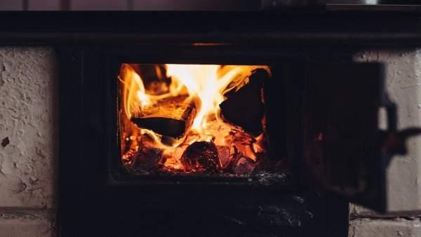 Estufa, braseo, leña, fuego,