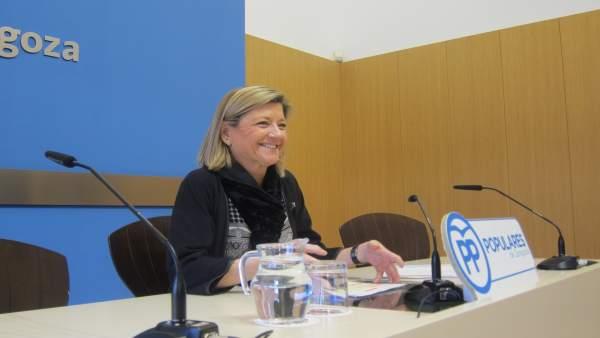 La concejal del grupo municipal del PP, Patricia Cavero.