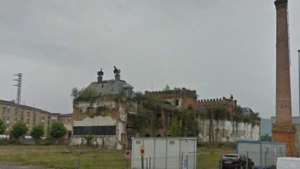 Antigua fábrica Aguila Negra en Colloto