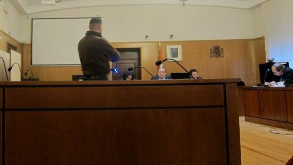 El procesado, durante el juicio en la Audiencia.