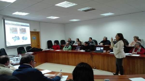 Presentación de la guía a la Mancomunidad de Los Pedroches