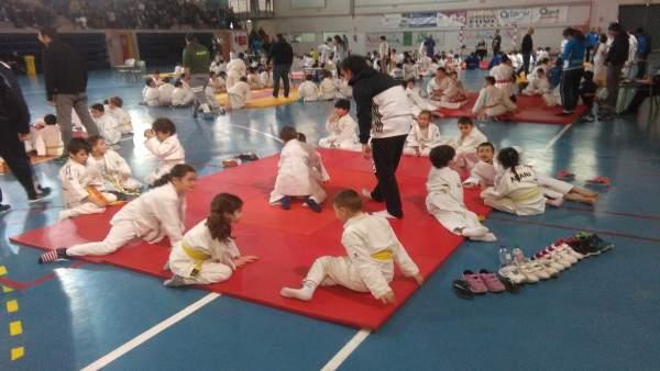 Cerca de 300 niños han participado en el encuentro de promoción del judo.