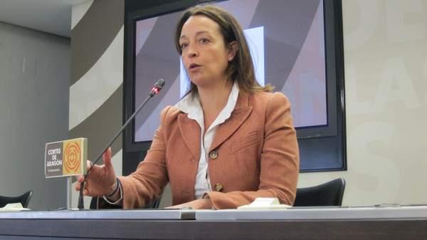 La diputada del PP en las Cortes de Aragón, Carmen Susín.