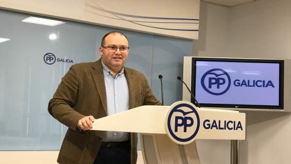 Miguel Tellado (PPdeG), en rueda de prensa
