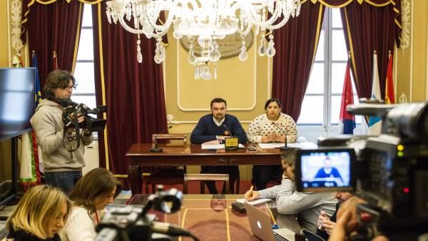 Rueda de prensa de junta de gobierno local de Cádiz