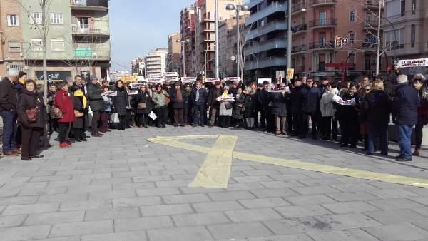 Concentración de trabajadores de la Generalitat en Lleida