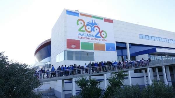 Lona málaga capital europea del deporte 2020 palacio martín carpena
