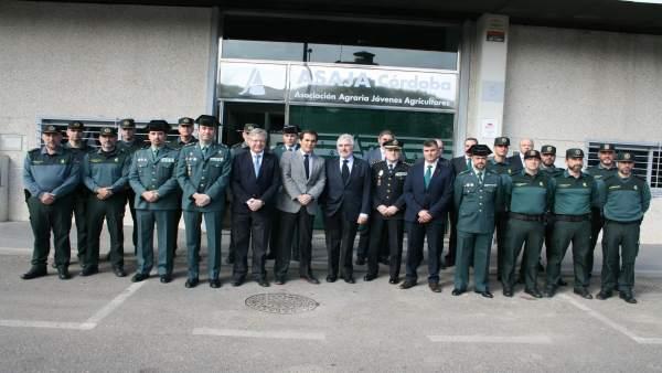 Homenaje de Asaja a la Guardia Civil con José Antonio Nieto