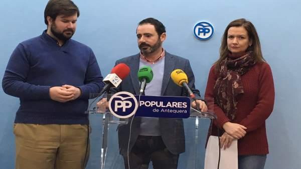 Jose Ramón  Carmona en rueda de prensa en Antequera