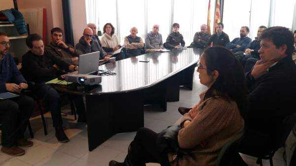 Reunión con ganaderos en Castejón de Sos (Huesca)