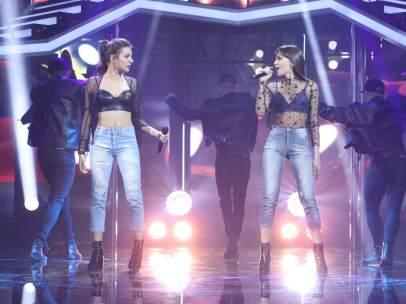 Ana Guerra y Aitana cantan 'Lo malo'