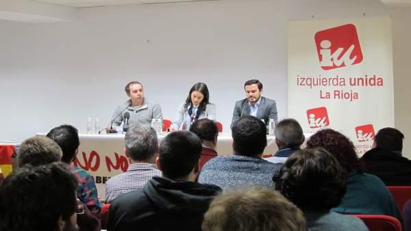 Alberto Garzón En Un Acto Público En Logroño