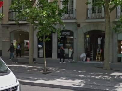 Robo en una tienda de la calle Serrano