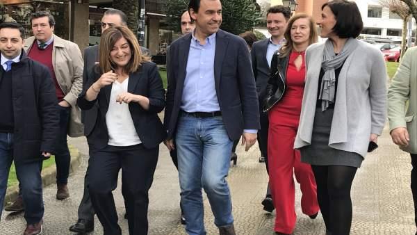 Maillo en Santander con cargos del PP de Cantabria