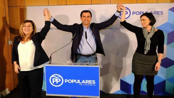 Buruaga e Igual con Martínez-Maillo