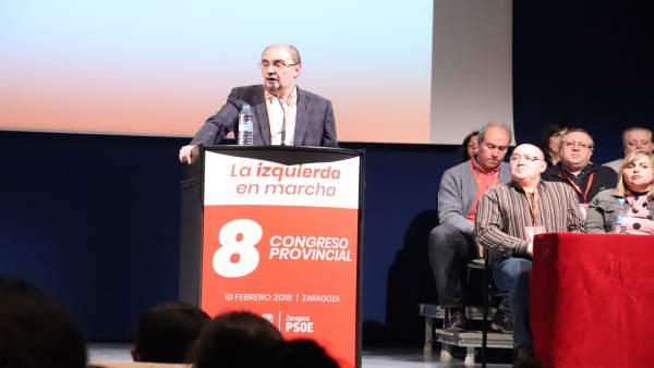 El secretario general de los socialsitas aragoneses, Javier Lambán.