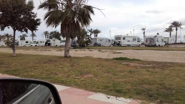 Caravanas en Roquetas de Mar (Almería)