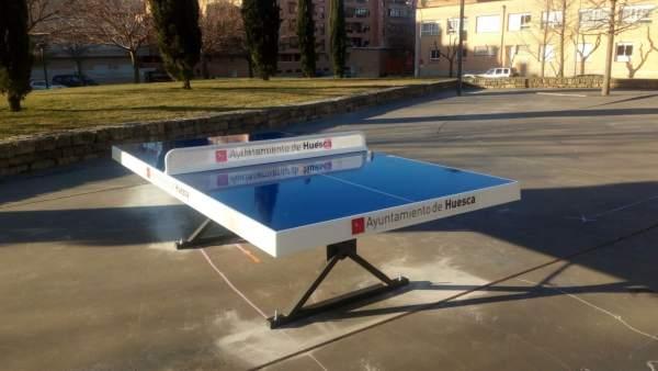 Mesa ping pong en Huesca.