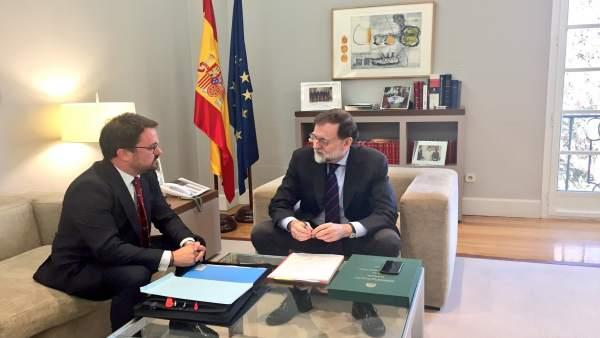 Asier Antona y Mariano Rajoy
