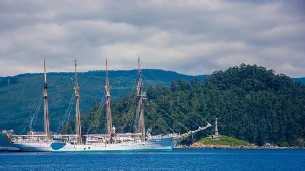 El buque-escuela Juan Sebastián Elcano
