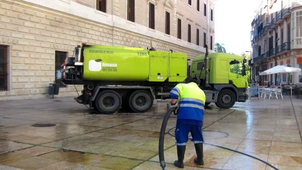 Camión de Limasa limpieza