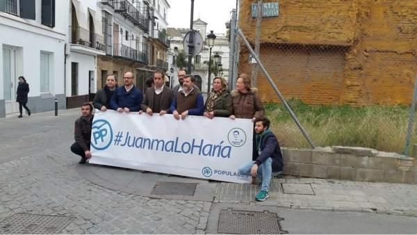 Campaña del PP #JuanmaLoHaría en el Puerto de Santa María (Cádiz)