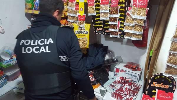 Tabaco de contrabando intervenido en Castilleja de la Cuesta