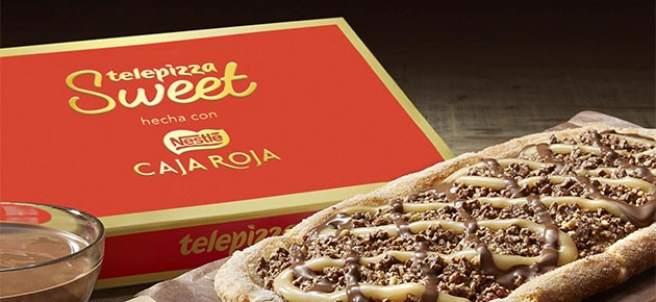 Pizza de chocolate de Telepizza