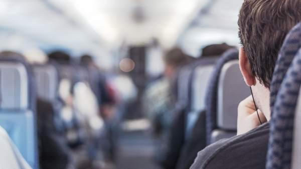 Asientos avión pasajeros silla