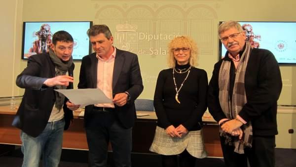 Calvo, Barrera, Conesa y Blanco en la presentación del ciclo