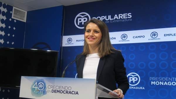 Portavoz del Partido Popular extremeño, Gema Cortés